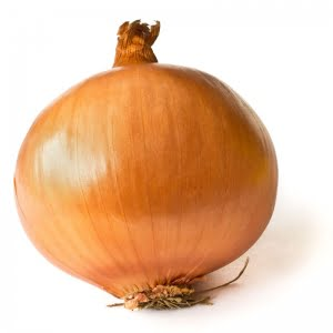 """Onions are one of the easiest things in the world to plant ~ take the root end cut after you've cut if off your onion, and stick it room side down in soil. Cover with about 1/2"""" of soil and water."""